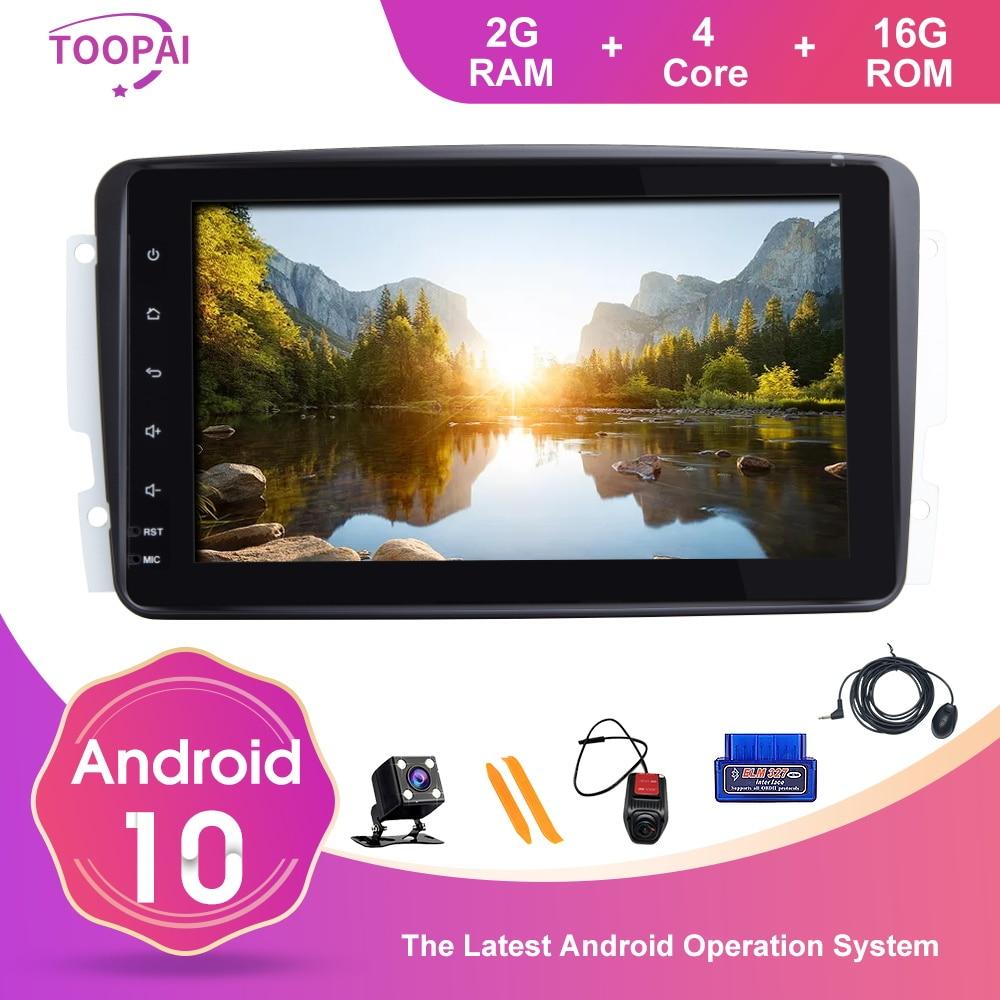TOOPAI Für Mercedes Benz CLK W209 Vito W639 Viano Vito Android 10 GPS Navigation Auto Multimedia-Player Auto FM Radio stereo SWC
