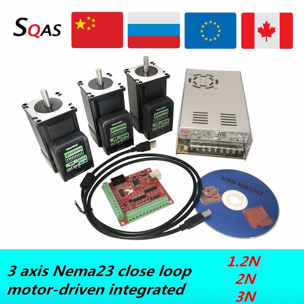 Nema23 CNC DC motor KIT ، محرك سيرفو هجين رقمي متكامل مع حلقة إغلاق ، 1.5n ، 2.2n ، 3N ، 8 مللي متر