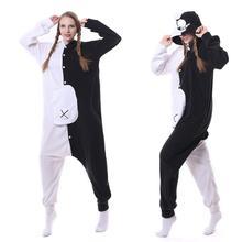 Adulte Kigurumi ours Animal Danganronpa pyjama noir blanc ours Monokuma une pièce body Cosplay Costume noël combinaisons