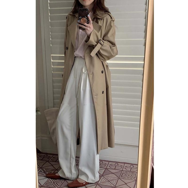 Khaki Women's Windbreaker Coat Is Popular This Year. 2021 Spring And Autumn New Korean Design Medium
