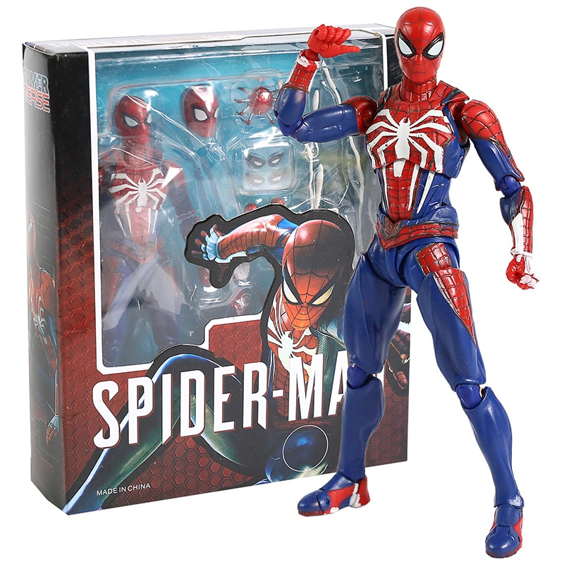 Avengers SHF Spider Man Upgrade Suit PS4 Game Edition SpiderMan PVC Action Figure Collectable Model Toy Doll Gift