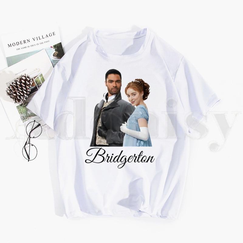 Bridgerton Lady Whistledown Watercolor Artwork Tshirt Hip Hop Girl Print Top Tees Harajuku Tshirts Men Fashion Summer T-shirts