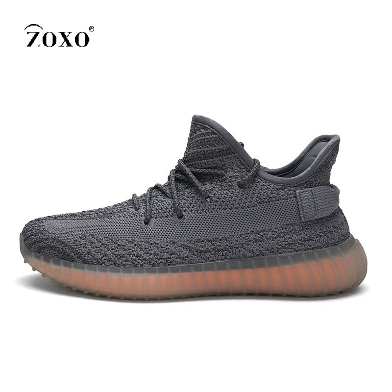ZOXO-أحذية رياضية للرجال ، أحذية رياضية للجري ، شبكة هوائية ، مسامية ، غير رسمية ، مبطنة ، باللون الأسود ، خفيفة الوزن ، مقاس كبير