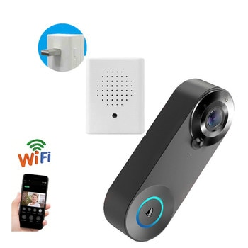 Smart WiFi Video Doorbell Wireless Door Phone Call Bell Intercom Home Security Night Vision PIR Infrared Monitor Camera Viewer