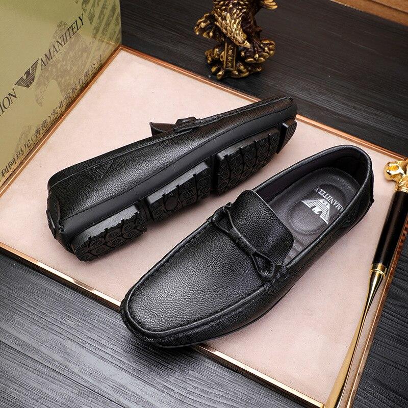 Новинка 2021, модная мужская обувь, кожаные деловые мужские туфли, летняя британская модная повседневная обувь.