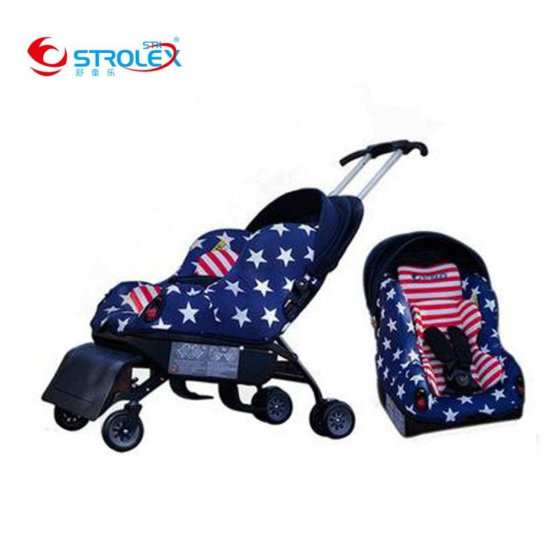 ستروليكس السفر عربة طفل مع مقعد السيارة 5 في 1 متعددة الوظائف ISOfix الطفل سلامة السيارة مقعد سيارة للأطفال عربة 6 متر ~ 12Y