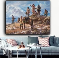 abstract indian landscape oil painting cuadros wall art on canvas posters and prints for living room