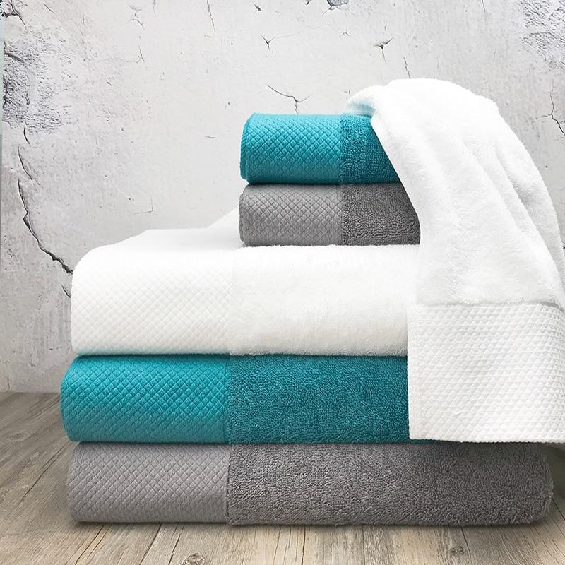 Quality Pure Color Cotton Towel Hotel Supplies for Exclusive Bath Shower Towel Handkerchief Face Towel Bath Stuff Spa Towel