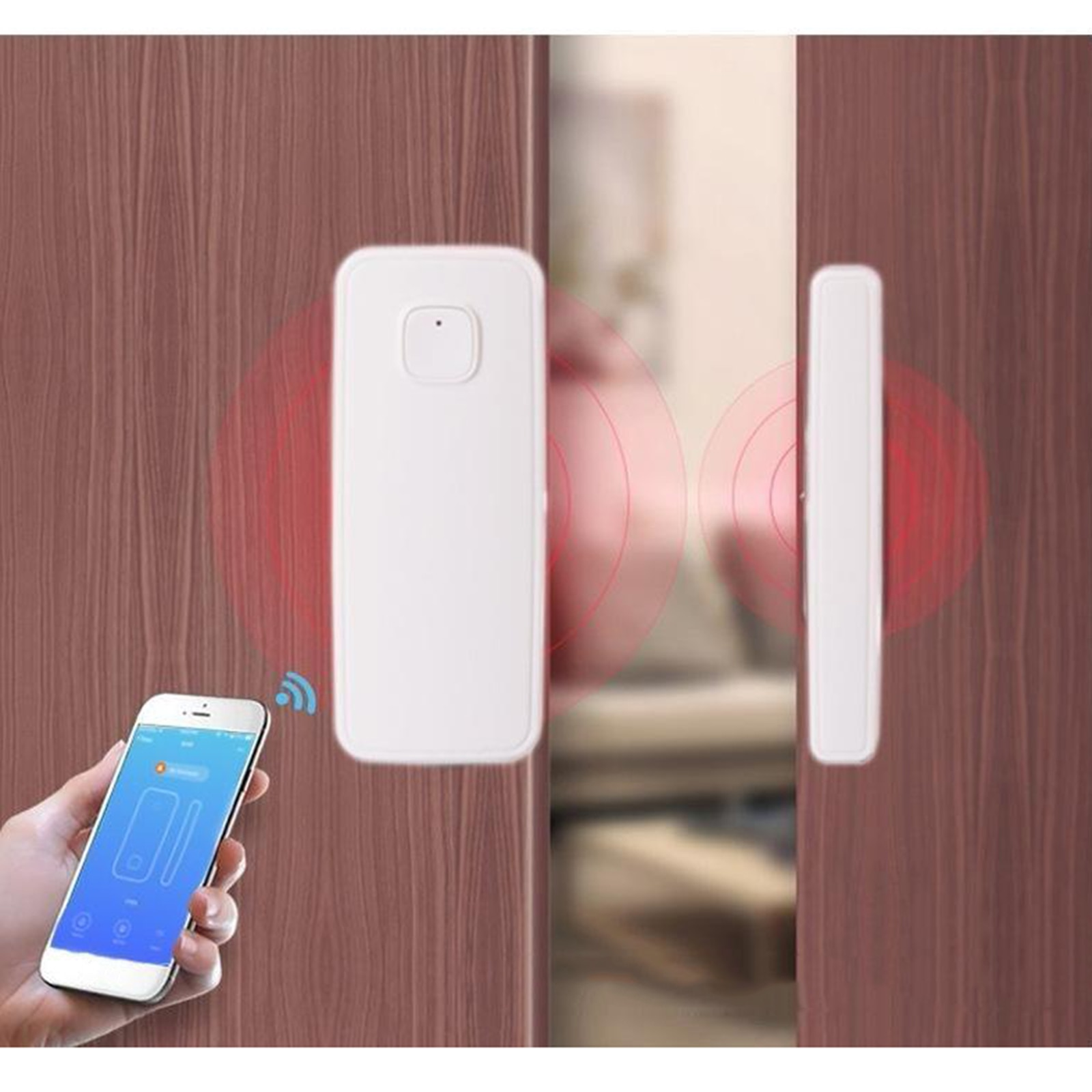 WiFi Tür Windows Sensor Smart Telefon APP Control Tür Status Magnetische Detektor Wireless Security Alarm für Home Bussiness Alarm