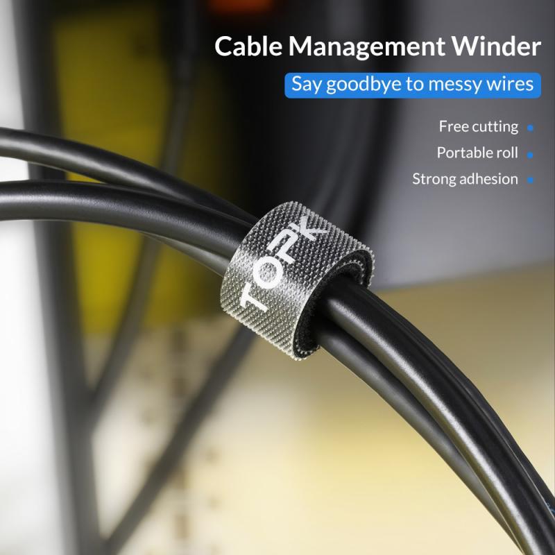 Muy banda elástica cinta mágica palos Cable lazos correas de modelo de alambre con hebilla de cinturón paquete corbata de lazo gancho con Cinta ajustable