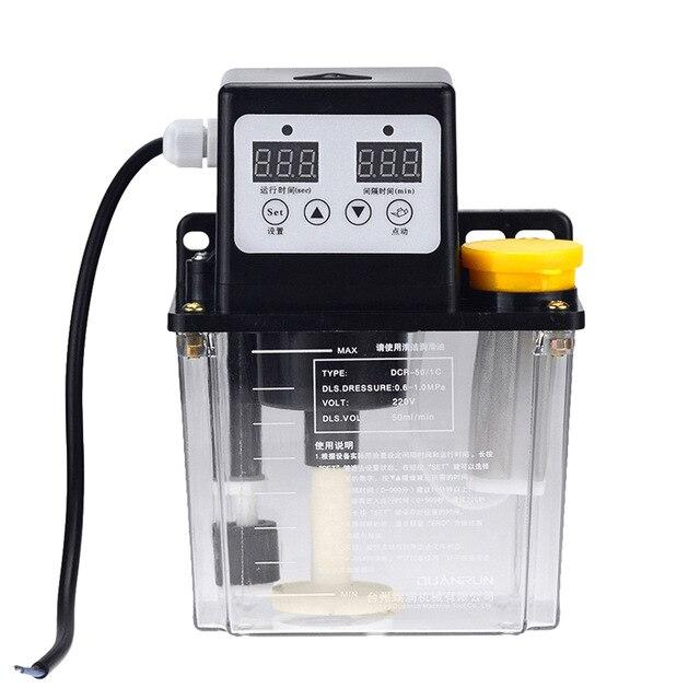 0.5/1/2 Liters lubricant pump automatic lubricating oil pump 0.5/1/2 Liters 220V cnc electromagnetic lubrication pump lubricator