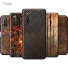 Wood Textures Soft Case for Vivo iQOO 3 5G Z1 V19 S1 Y15 Pro Y12 Y17 Y19 Y30 Y50 Black Silicone Mobile Phone Bags Cover Shell
