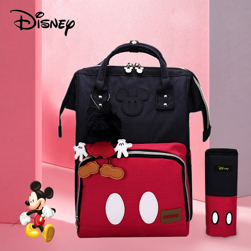 Disney Cute Minnie Mickey Red Diaper Bag Waterproof Baby Care Mummy Bag Maternity Backpack Large Nappy Bag Maternity Bag disney mickey mouse diaper bag waterproof baby care mummy bag maternity backpack large nappy bag oxford cloth baby bag