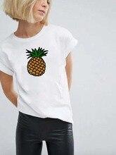 Ananas Fruits femmes vêtements T-shirt mode femme T-shirt graphique blanc rose jaune T-shirt Kawaii Camisas Mujer vêtements