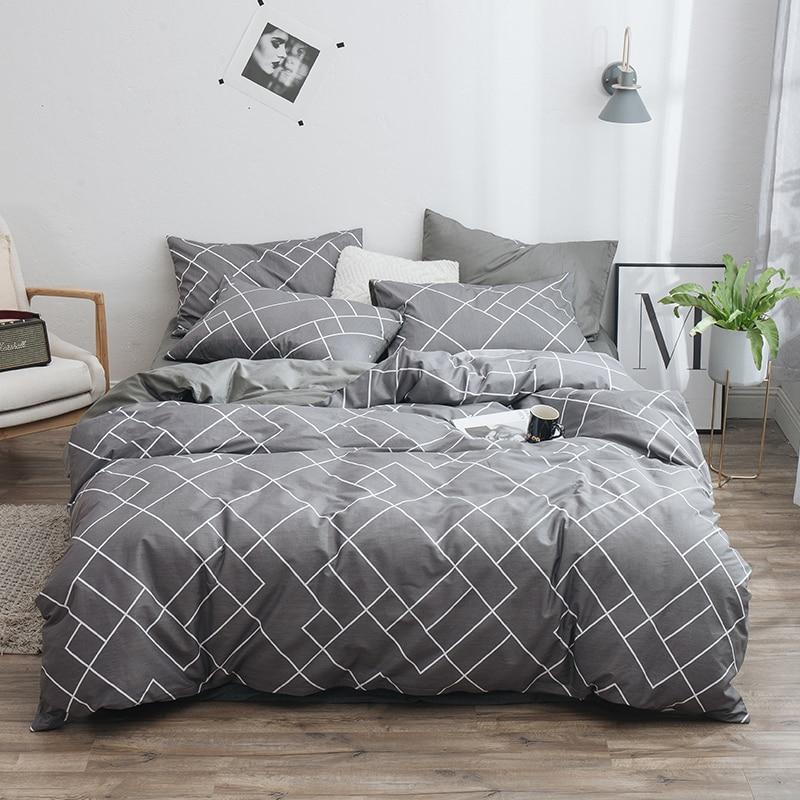 Lanke 100% juegos de cama de algodón, textiles para el hogar, juego de cama doble King Size, ropa de cama con cama, edredón sábana, juego de funda de almohada