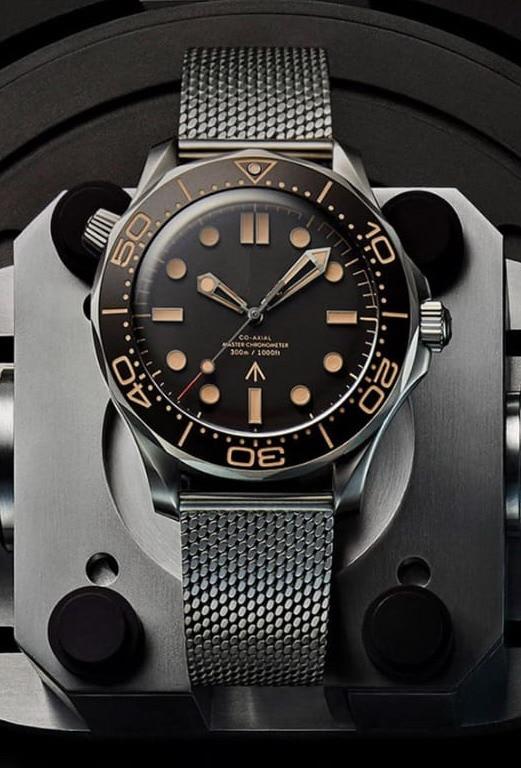 "NATO Stainless Steel Men James Bond 007 Watches ETA2813 Movement  ""No Time to Die"" Limited Edition Sapphire Orange Ceramic Watch"