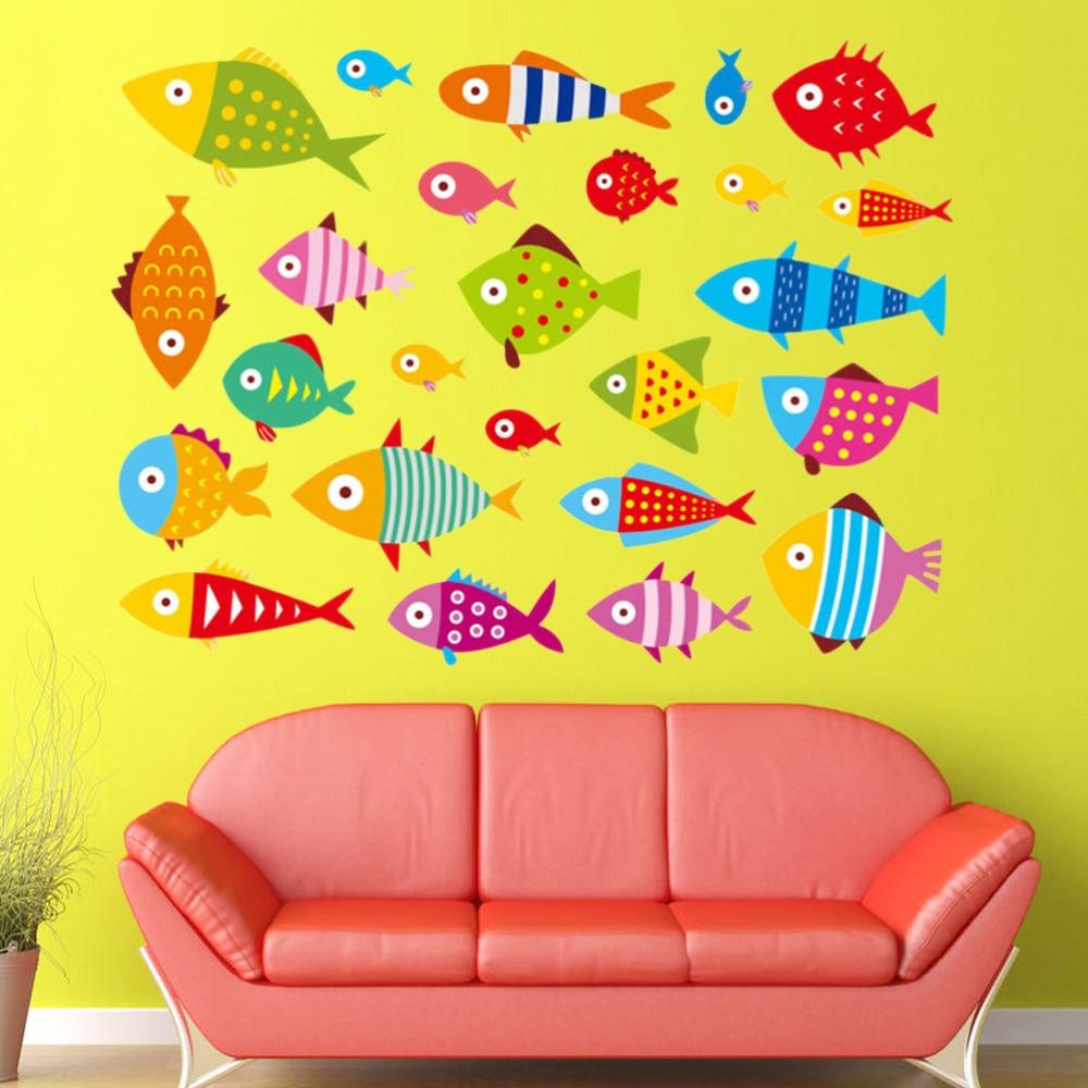 Pegatinas de peces adornos para artesanía para niños proyectos tarjeta haciendo decoración de colección de recortes 60x90cm