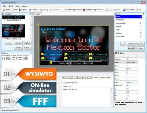 "1 STÜCKE Nextion NX4832T035-3,5 ""HMI TFT LCD Touch-Display Modul"