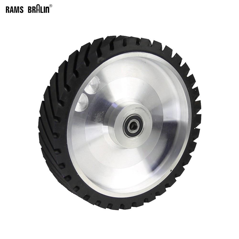 عجلة اتصال مطاطية ، 250 × 50 مللي متر ، مسننة ، لآلة صنفرة السيور