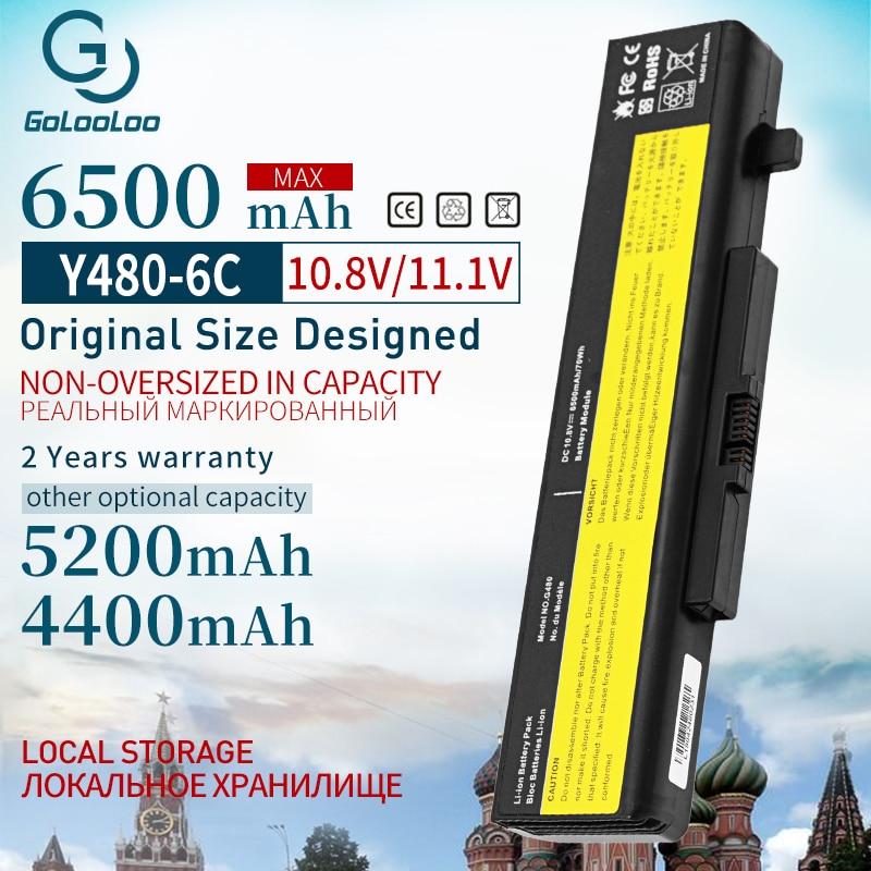 Golooloo 6500mAh batería del ordenador portátil para Lenovo ThinkPad Edge l11s6y01 E430C E435 E535 E530C Y580M Y580N Y580P V480C G500 V480S V480U