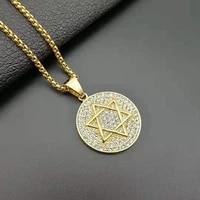 religious star of david jewish israel hanukkah necklace