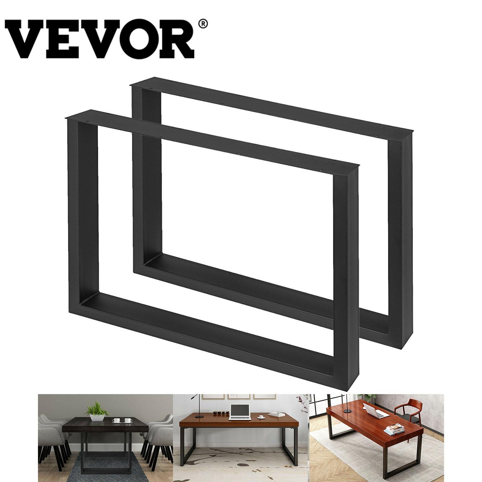 VEVOR 2 قطعة أرجل طاولة من المعدن على شكل مربع الثقيلة الصلب دائم سهلة لتجميع لمجلس الوزراء مكتب الطعام الاستخدام المنزلي التجاري