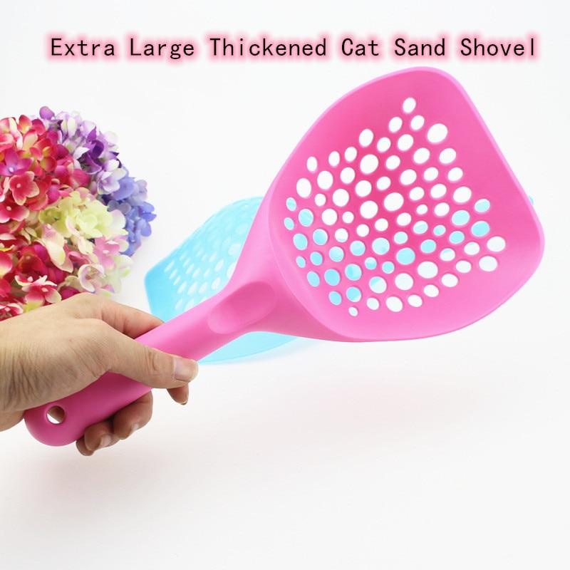 Pala de arena para gatos de gran tamaño, útil, herramienta de limpieza para mascotas, pala para perros, pala ligera para arena de gatos, suministros de limpieza para Gato