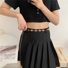 Vintage JK Hanfu Pearl Chain Decoration Ins Style Accessories Dress Sweater Waist Tight Thin Belt