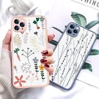 luxury flower case for iphone 12 mini case transparent on iphone 11 pro max xr xs se 2020 x 7 8 6s 6 plus iphone12 back covers