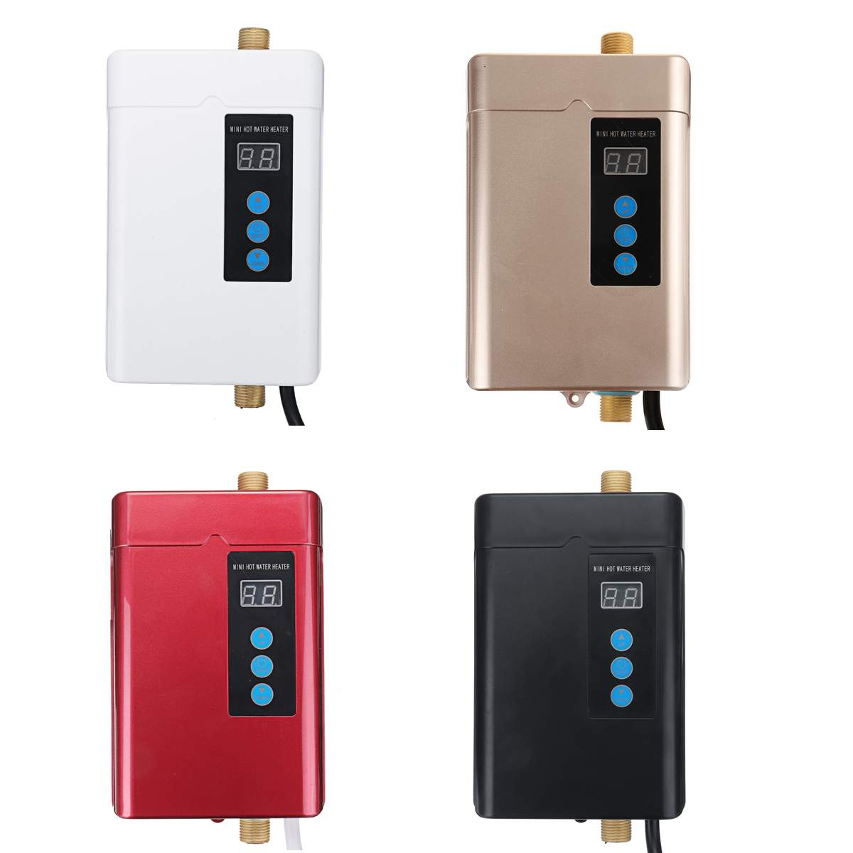 4000W 110-240V Instant Electric Mini Tankless Water Heater Hot Instantaneous Water Heater System for Kitchen Bathroom