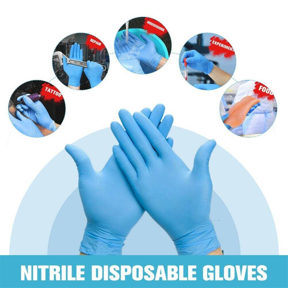 100pcs Disposable Nitrile Latex Gloves Kitchen Anti-virus Cleaning Work Finger Gloves Protective Food Safety Dish Washing Gloves enlarge