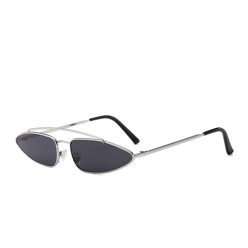 Gafas de sol triangulares de Metal para mujer, accesorios de foto de playa a la moda, minilentes portátiles, gafas de sol con marco ultraligero