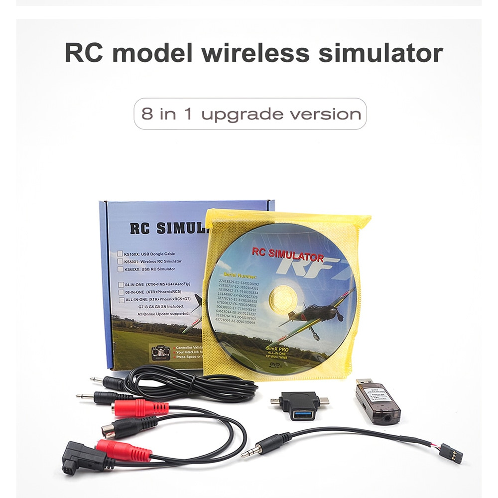 STARTRC 8-in-1 RC Flight Simulator Draadloze Simulator voor Flysky i6x FUTABA Radiolink AT9s AT10 RC Speelgoed voor Kids