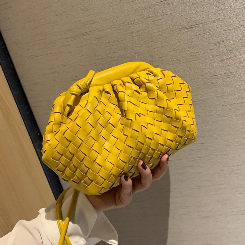 Soft Weave PU Leather Crossbody Bags For Women 2021 Fashion Brand Shoulder Bag Female Luxury Handbag and Purse Lady Travel Hobos