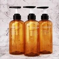Distributeur de savon de salle de bains  3  500ML  pompe a mousse  grande capacite  Type presse  Lotion  Gel douche