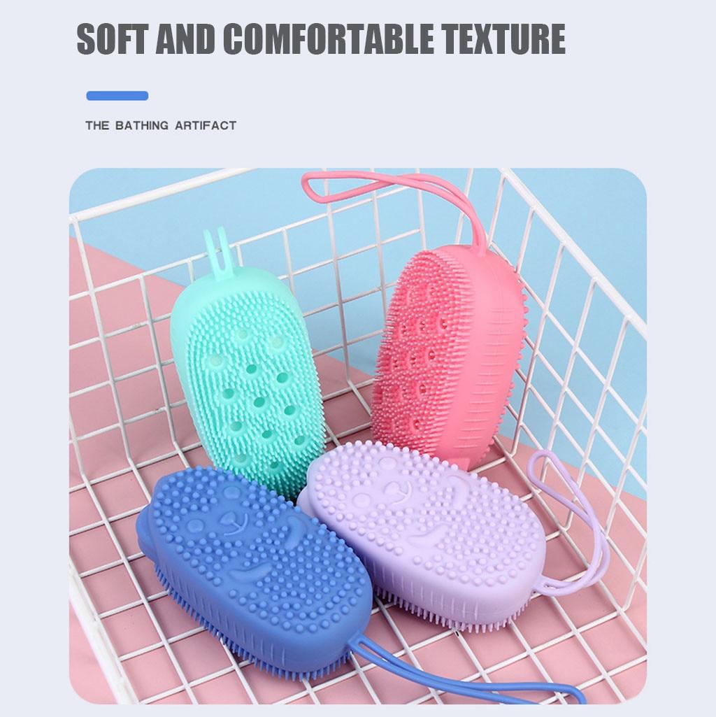 New Bubble Bath Brush Quick Foaming Bath Brush  Scrubbing Brushes  Soft Rubbing Massage Bubble Body Cleaner Silicone Bathroom enlarge