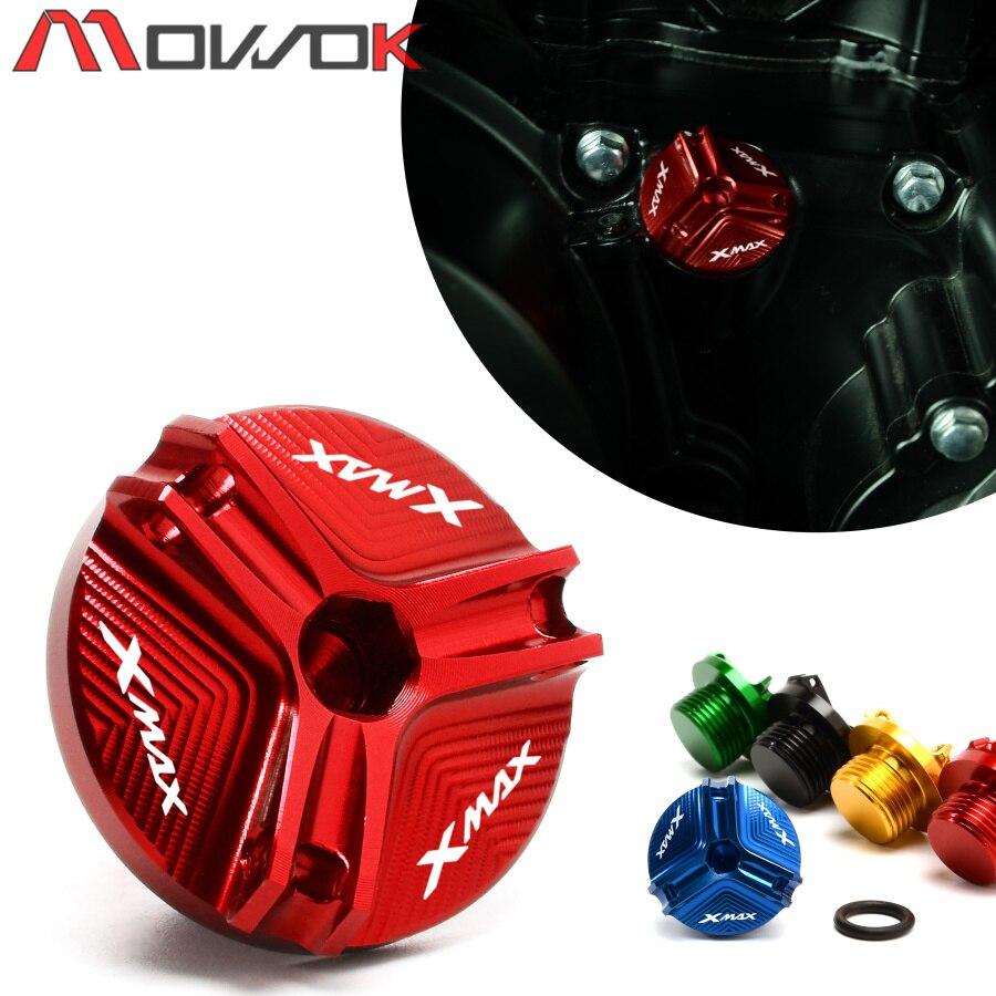 "M20 * 1,5 LOGO ""XMAX"" Motorrad CNC Aluminium Motor Öl Füllstoff Kappe Stecker Schraube Abdeckung Für YAMAHA XMAX 300 X-MAX 250"