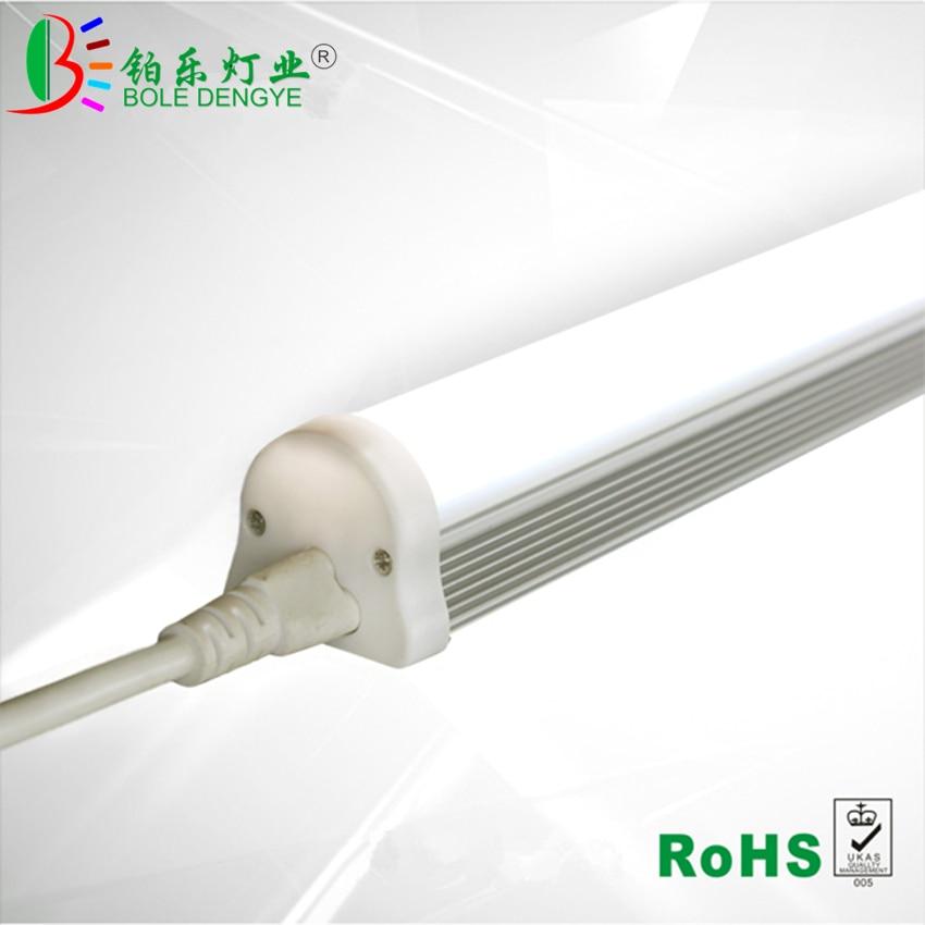 T8 светодиодный светильник-трубка 2ft 60 см 15 Вт светодиодный настенный светильник 2ft 220 в 230 в стандартный соединитель кабеля для интегрированн...