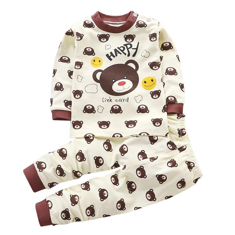 Niños pijama ropa de bebé Set niños dibujos animados ropa de dormir otoño algodón ropa de dormir niños niñas Animal Pijamas conjunto Dropship