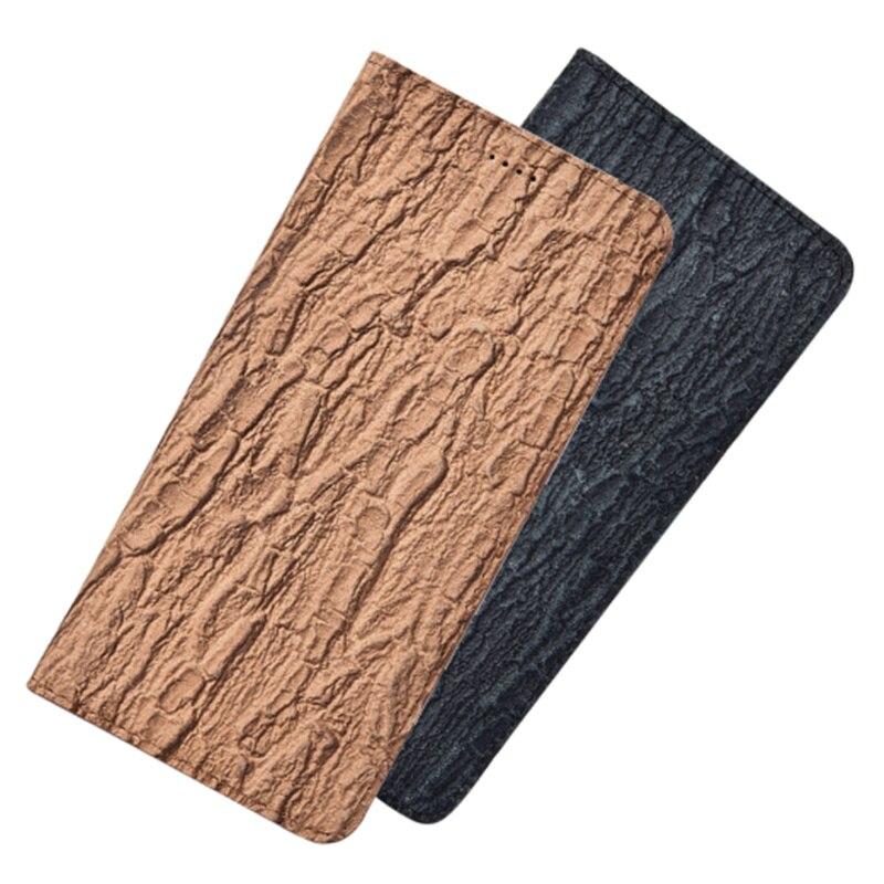 Funda con tapa magnética de cuero genuino con textura de corteza para Xiaomi Redmi Note 4X/Xiaomi Redmi Note 4, funda para teléfono, tarjetero