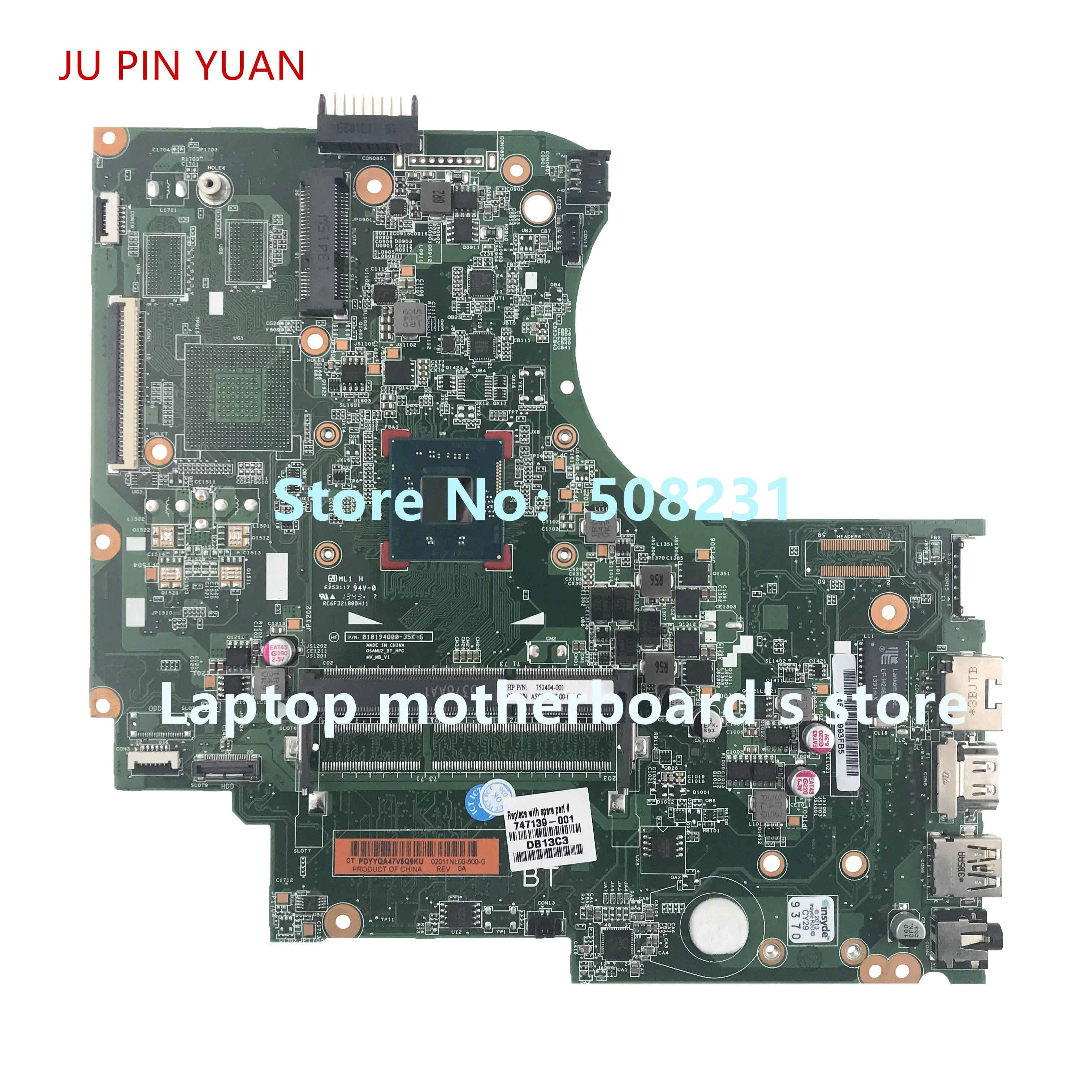 Ju Pin Yuan 747139-501 747139-001 Scheda Madre per Hp 15-D 250 G2 Scheda Madre Del Computer Portatile 100% Completamente Provato