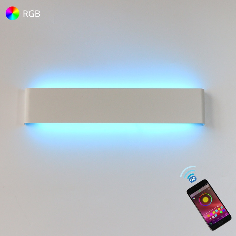 LED Wall Light RGB Dimmable Bluetooth APP Remote Control Wall Lamp For Decorative Atmosphere Connect