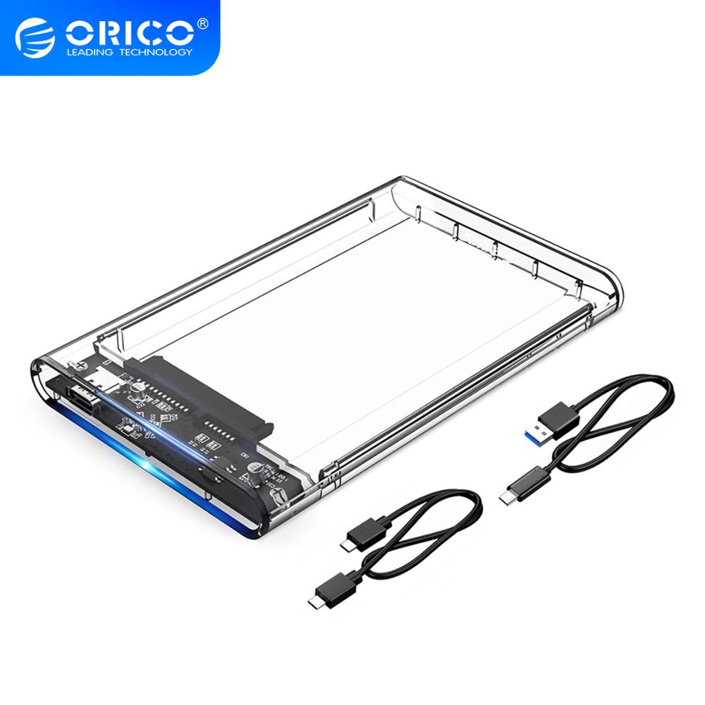 ORICO Type C 2.5'' Transparent HDD Case USB3.1 Gen2 10Gbps Hard Drive Enclosure Support UASP Protocol With Type-C to C Cable
