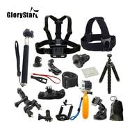 21 шт. аксессуары для экшн-камеры инструменты для камеры для наружной фотосъемки s защитный инструмент для Gopro Hero 5 4 / Sjcam / Yi