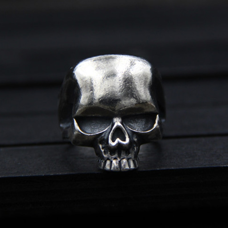 Silver 925 Retro Thai Silver Skull Ring Men's Fashion Smooth Polished Punk Individual Original Ring Size 23 Weight 9.2 Size 23  - buy with discount