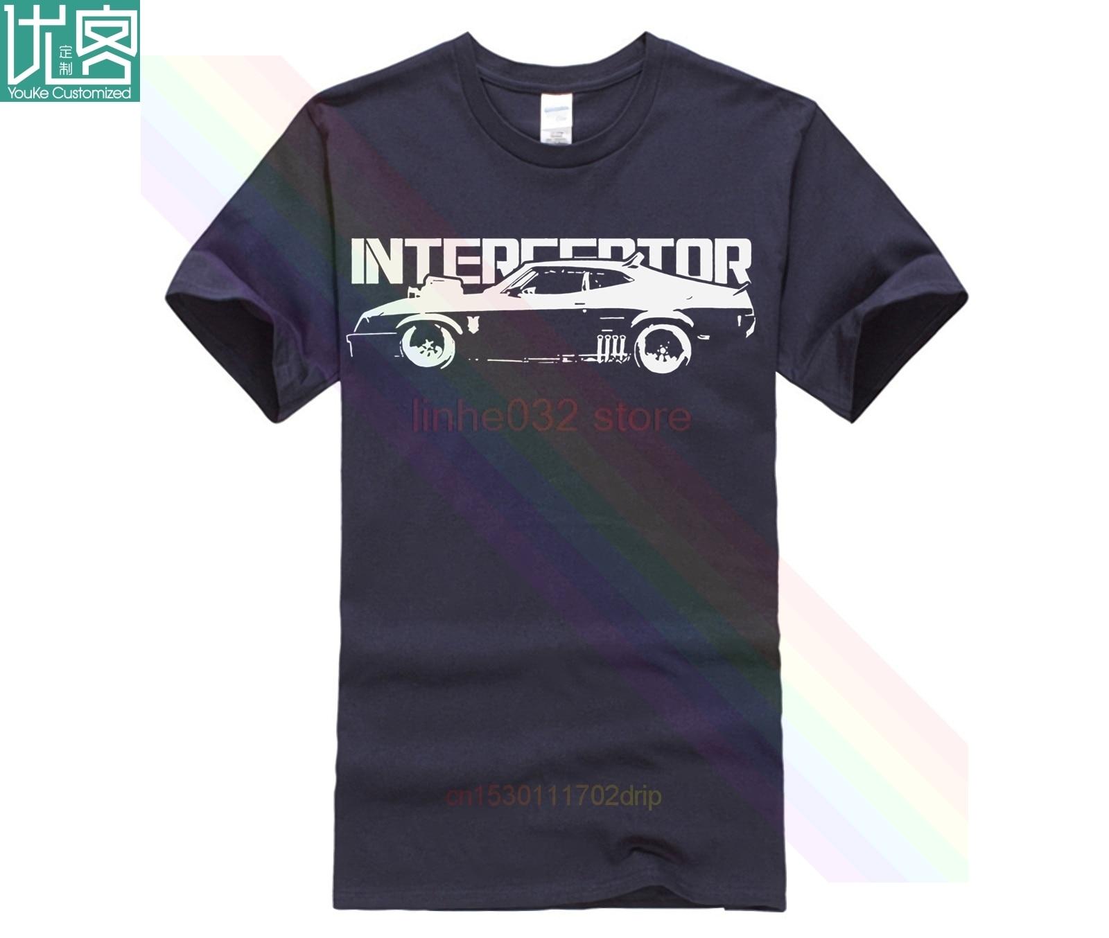 Nueva camiseta negra Blac de algodón con diseño gráfico de Mad Max Interceptor Muscle Car, Camiseta de algodón de manga corta para hombre con estampado de Hip Hop