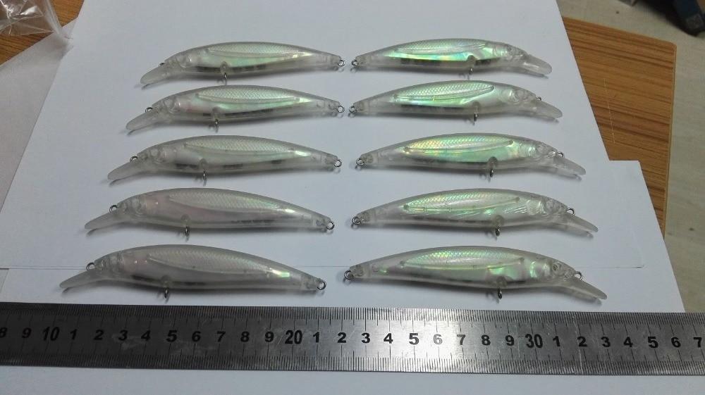 10 шт. неокрашенные приманки для рыбалки 4 1/2 дюйма 2/5 унций Пустые приманки JS #8100