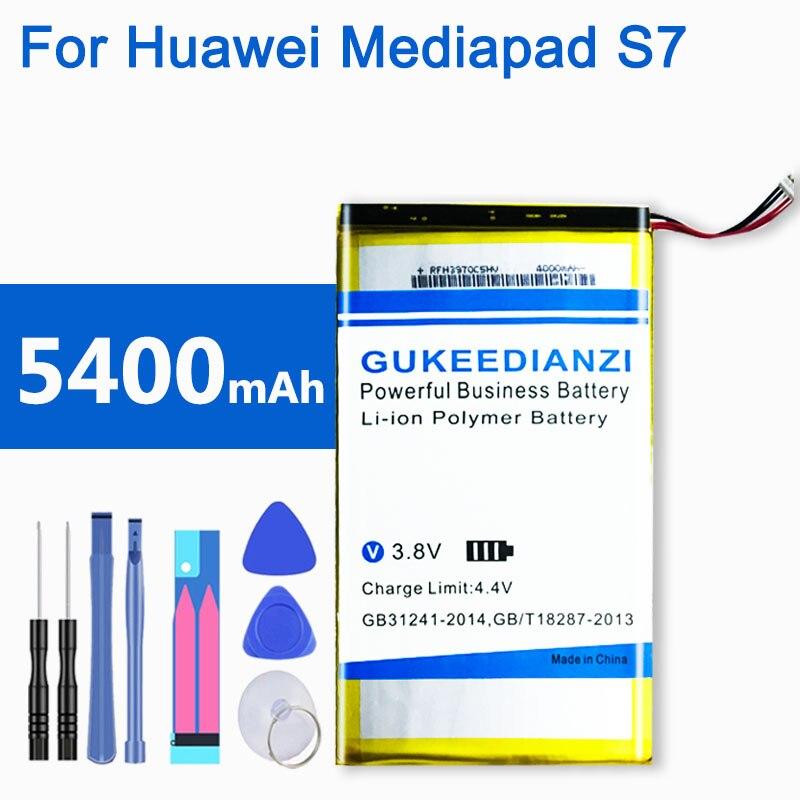GUKEEDIANZI HB3G1 / HB3G1H Tablet batería para Huawei Mediapad S7 S7-601U/C/W S7-301W/U S7-931 5400mAh 100% baterías nuevas.