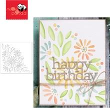 Margarida buquê carimbo estêncil metal corte dados e selos para pintura stencil modelo scrapbooking diy artesanato papel