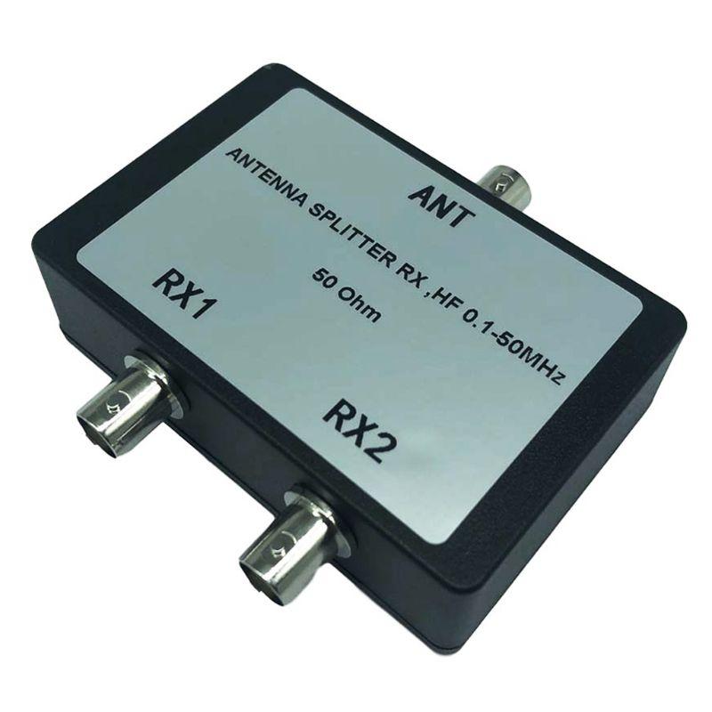Sinal coaxial dos conectores bnc do divisor portátil rx hf 0.1-50 mhz 50ohm da antena para o satélite da tevê